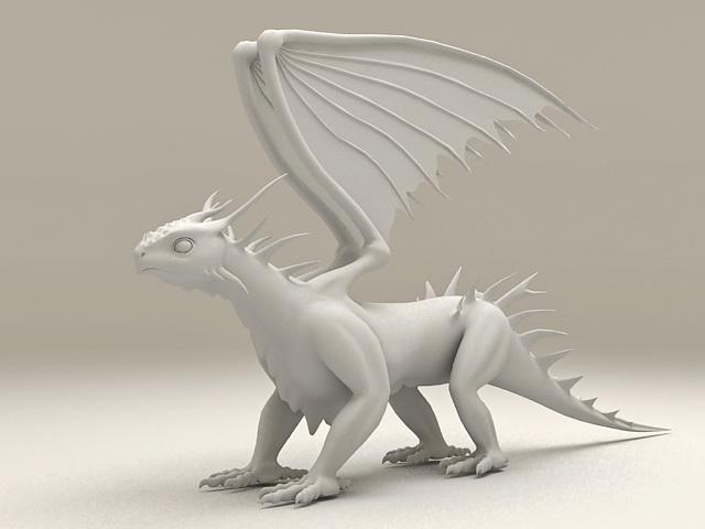 White Dragon 3d model