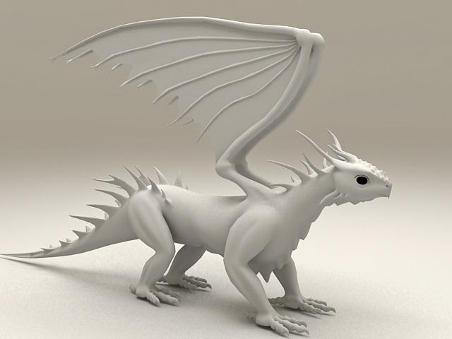 white dragon 3d - photo #6