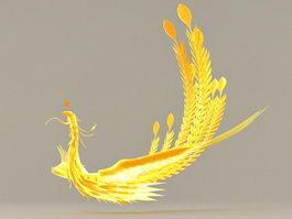 Golden Phoenix 3d model