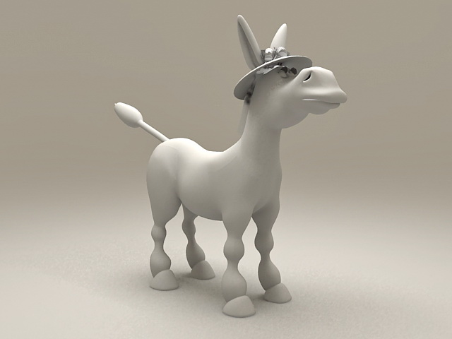 Cute Cartoon Pony 3d model