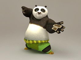 Kung Fu Panda Rigged & Animated 3d model