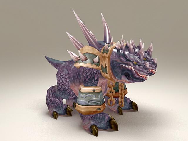 Purple Core Hound 3d model