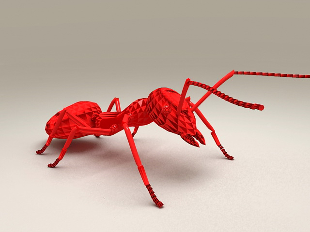Red Ant Statue 3d model