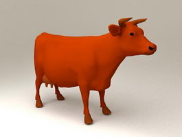 Milking Dairy Cow 3d model
