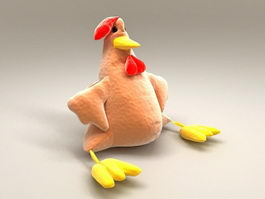 Cockerel Stuffed Toy 3d model