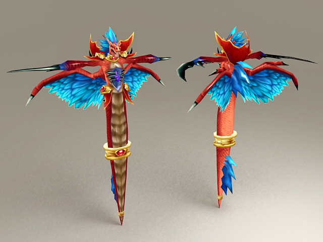 Red Wind Serpent 3d model