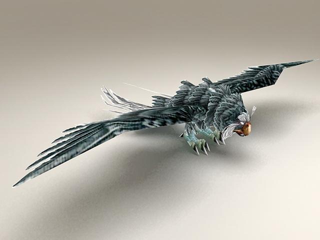 Blue Owl Bird 3d model