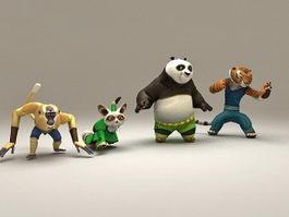 Kung Fu Panda Characters 3d model