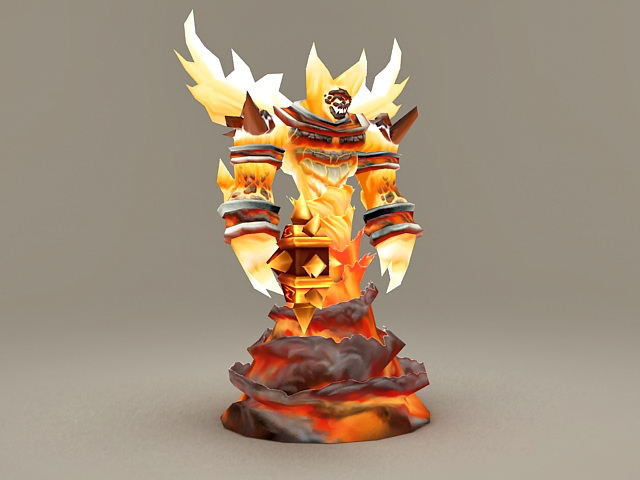 Fire Lord Ragnaros 3d model