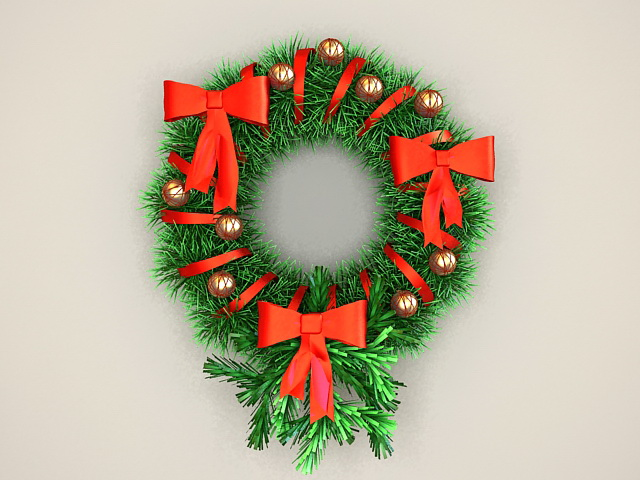 Christmas decorations wreath 3d model 3ds max files free for 3d model decoration