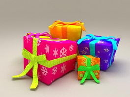 Decorative Gift Boxes 3d model
