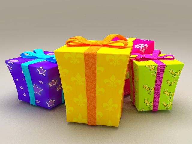 Decorative Gift Boxes 3d Model 3ds Max Files Free Download