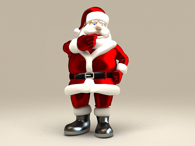 3dSkyHost: Christmas Santa Claus 3D Model