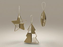Christmas Star Ornament Craft 3d model