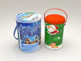 Christmas Cookies Buckets 3d model
