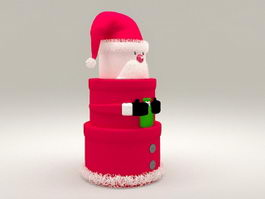 Christmas Gift Box Tower 3d model