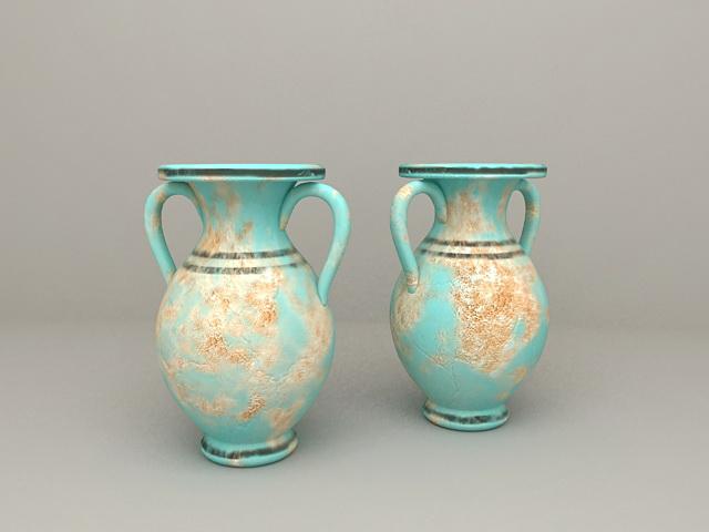 Mediterranean Amphora Vases 3d model
