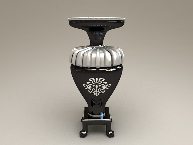 Black Tall Floor Vase 3d model