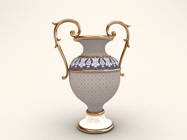 Trophy Shaped Flower Vase 3d model
