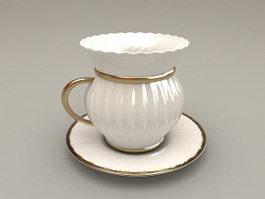 Vintage Cup and Saucer Set 3d model