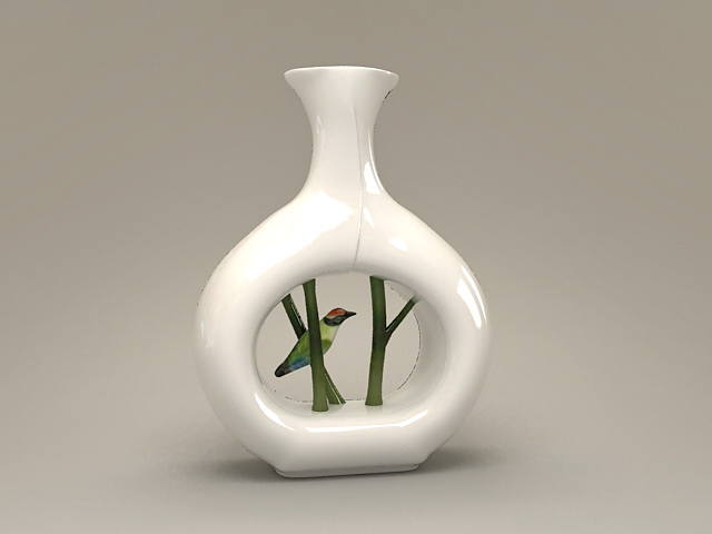 Porcelain Bird Vase 3d Model 3ds Max Files Free Download