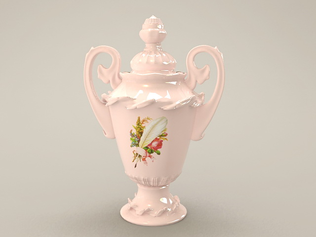 Vintage Porcelain Vase 3d model
