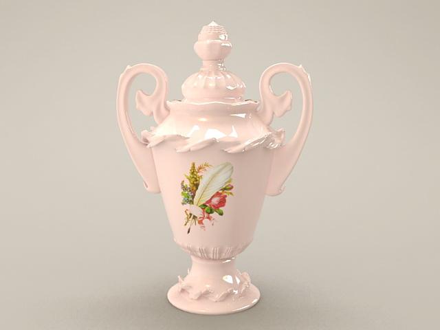 Vintage Porcelain Vase 3d rendering