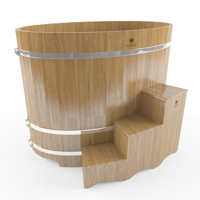 Japanese Soaking Tub 3d model