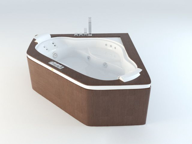 Corner Jacuzzi Tub 3d model