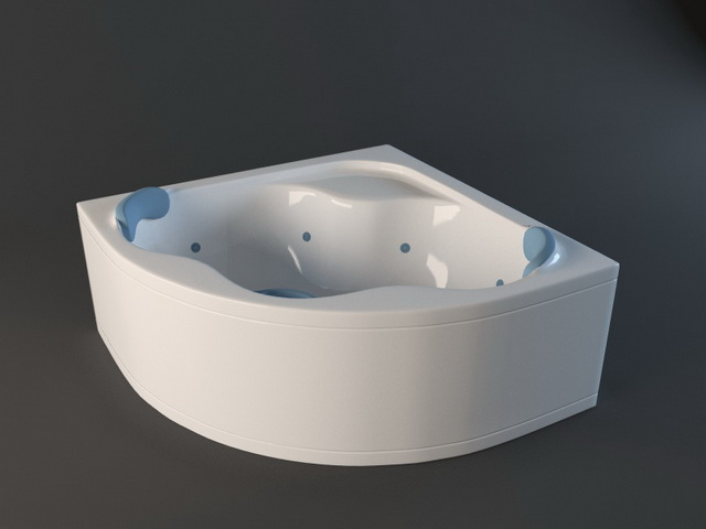 Corner Whirlpool Tub 3d model