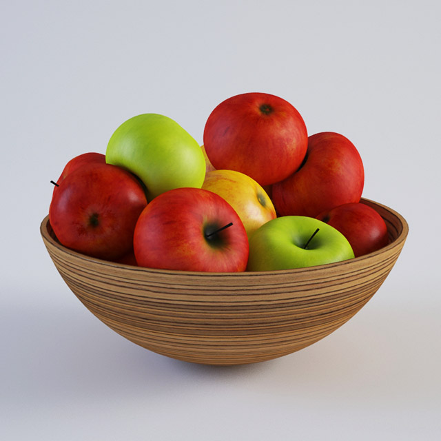 Apple and Vase 3d model