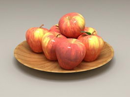 Apples On Plate 3d model