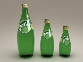 Perrier Bottled Water 3d model