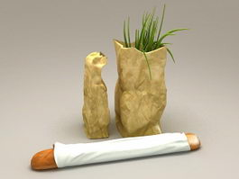 Vegetable Shopping Bags 3d model