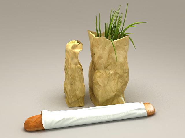 Vegetable Shopping Bags 3d model