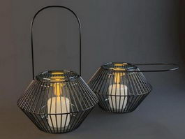Vintage Wire Lantern 3d model
