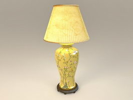 Yellow Ceramic Table Lamp 3d model