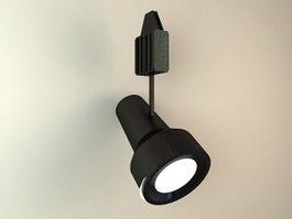 Black Spotlight Low Poly 3d model