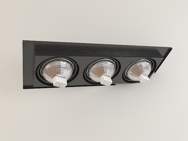 Recessed multi spot light fixture 3d model 3ds max files free high detailed 3d model of rectangular recessed lighting fixtures available 3d file format x autodesk 3ds max 2011 texture format jpg mozeypictures Image collections