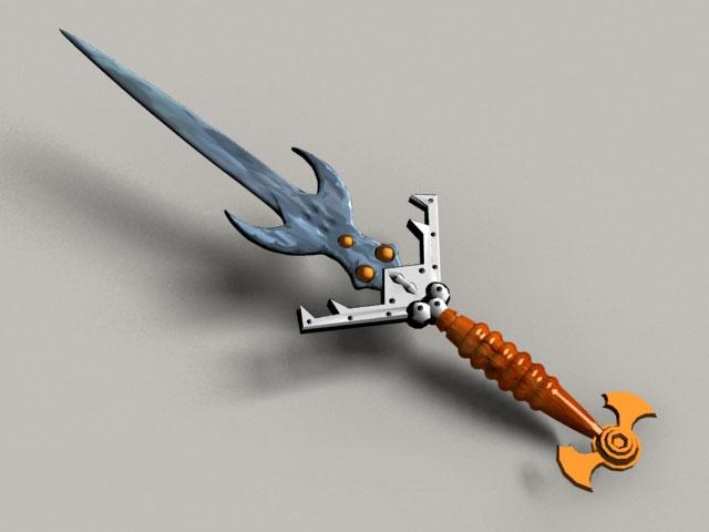 Dragon Knight Sword 3d model