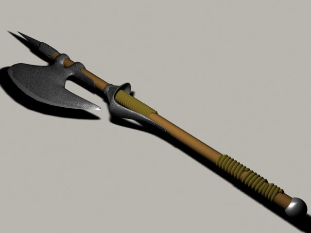 Battle Axe Medieval Weapon 3d model