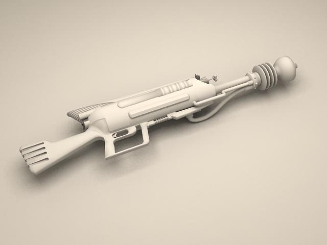 Sci-Fi Laser Rifle 3d model