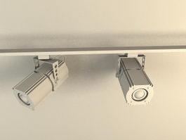 Track Lighting Spotlight 3d model