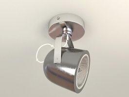 Single Ceiling Mounted Spotlight 3d model