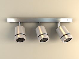 Ceiling Spotlight with 3 Lights 3d model