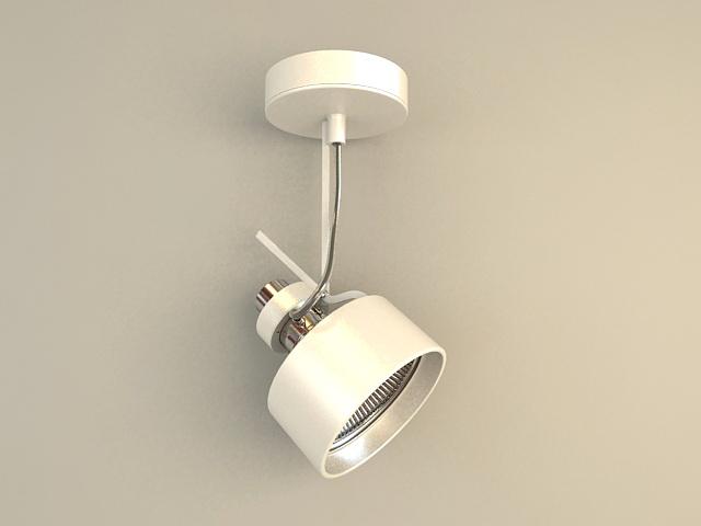 Single Ceiling Spotlight 3d model