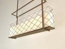 Modern Rectangular Pendant Lighting 3d model