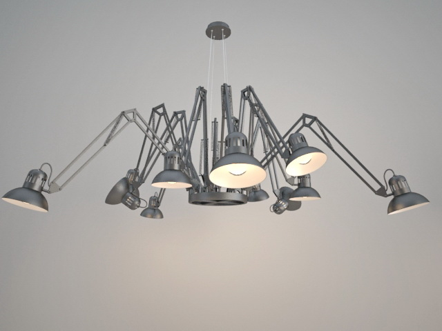 Chandelier Spider Lamp 3d model