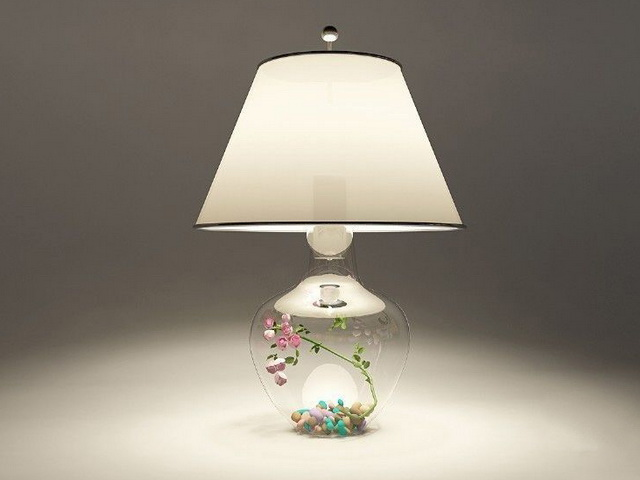 Clear Glass Table Lamp 3d model