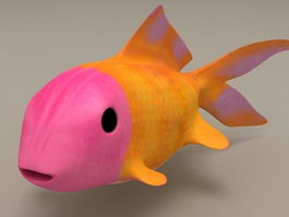 Cartoon Fish Animation 3d model
